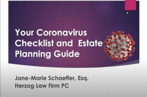 coronavirus checklist and estate planning guide