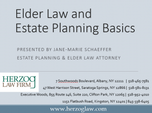 Elder Law and Estate Planning Basics